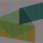 chromo-Induction sur trois plans; encre sur plexiglas, 60x60 -2015
