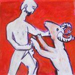 Abraham, pastel gras sur papier, 30 x 30 cm