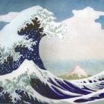 La vague d'Hokusai (Nihonga 39x29 cm 2015)