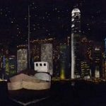 Hong Kong by night (Nihonga 29x39 cm 2016)
