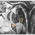 Forêt, gravure monotypée, 2017