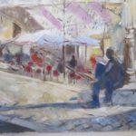 Place Emile Goudeau, Le Relais de la Butte - 2012. Huile, 100 x 80 cm.