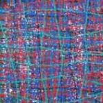 Oscuro fondo bleu,blanc, rouge 30x30 2015