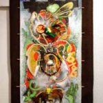 APIS,toile kakemono tech mixte, 133x56cm, 2009