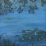 Paysage - oeuvre sur toile - 20x20 cm
