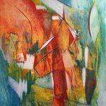 Verticalité-2016-acrylique sur toile, 60x80