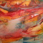 Toile de mer-2016-acrylique sur toile, 60x80