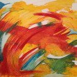 Tourbillon de vie-2016-acrylique sur toile, 60x80