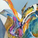 Renaissance-2015-acrylique sur papier, 50x65