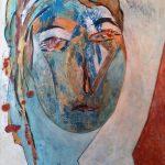 Visage II-2015-acrylique sur papier, 50x65