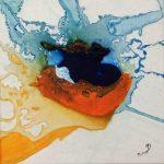 Bleu comme une orange III-2015-acrylique sur toile, 20x20