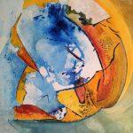 Revenir à la source-2015-acrylique sur toile, 70x70