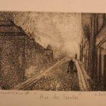 """""""Rue des Saules """" eau forte sur cuivre"""
