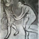De la série des 500 danses du fusain