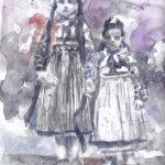 Teufelsmädchen, aquarelle sur papier, 20 x 29 cm