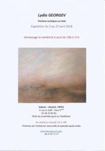 Lydia GEORGEV - Exposition galerie-librairie PIPPA - Peintures acryliques sur toile @ Galerie-Librairie PIPPA | Paris | Île-de-France | France
