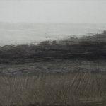 Paysage - oeuvre sur papier - 32x27cm