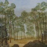 Paysage - oeuvre sur toile - 80x80cm