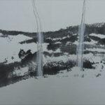 Paysage - oeuvre sur papier - 23x32cm