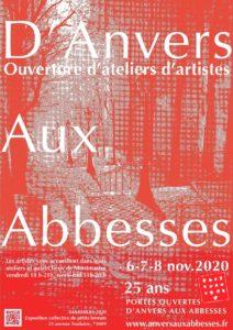 Portes Ouvertes d'ateliers d'artistes 2020 - 6, 7 et 8 novembre