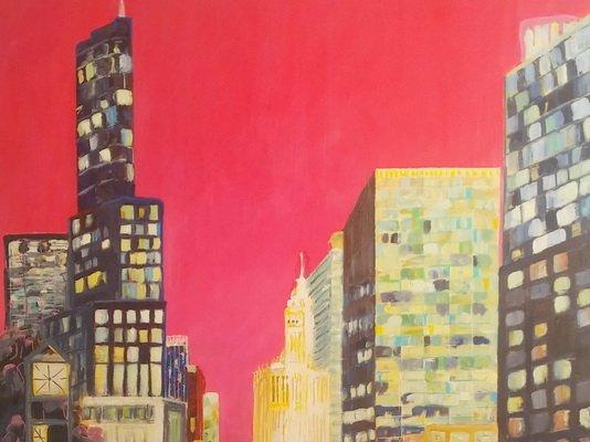 Chicago - 2016  (acrylique, posca)