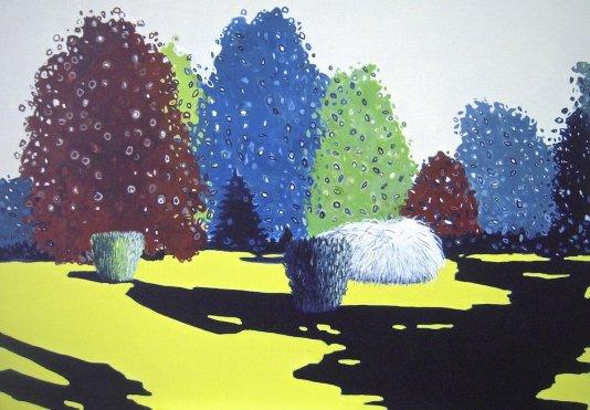 """""""Paysage du chapot"""" acrylique sur toile-116X81"""