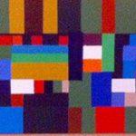 """""""Composition"""" acrylique sur toile"""" 30X90 cm"""