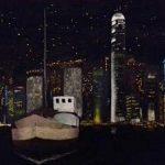 Hong Kong by night (Nihonga 29x39 cm 2016)