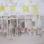 Au Rêve - 2012. Aquarelle, 57 x 76 cm.