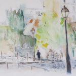 Rue des Saules - 2012. Aquarelle, 45 x 37 cm