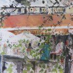 Place Utrillo, Au Soleil de la Butte - 2012. Huile, 80 x 60 cm