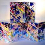 diagonal paintboxes 3 cubes 20 x 20 x 20cms 20111 sur 12 images