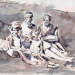 Juist III, aquarelle sur papier, 29 x 20 cm