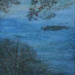Paysage-oeuvre sur papier - 20x20cm